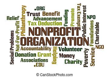 Non Profit Organization word cloud on white background