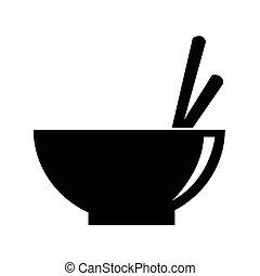 Noodle Bowl icon vector illustration