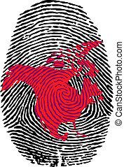 North America-fingerprint