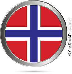 Norway flag button.