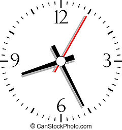 Numbered clock, vector illustration