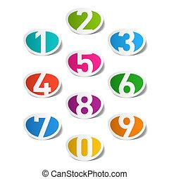 Numbers set vector illustration