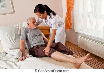 Nurse in aged care