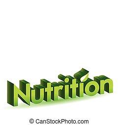 nutrition illustration sign