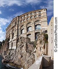 Famous building of Oceanographic Institute in Monaco