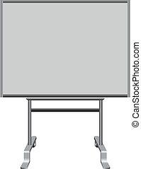 Office plastic board to write