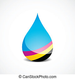 Vector Illustration of Drop With Offset Printing Colors (eps v.10)