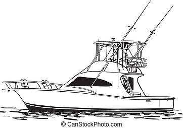 Offshore Sport Fishing Boat