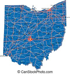 Ohio state political map