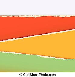 Old construction paper with ragged edge. Torn paper. Vector illustration
