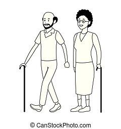 old couple avatar