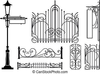 Old design elements of city streets