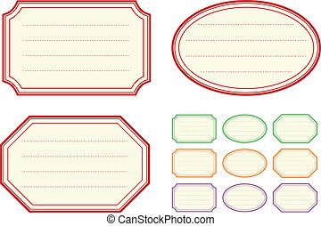 Vector collection of old fashioned jam label templates
