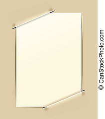old-fashioned paper frame