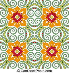 Background vintage flower. Seamless floral pattern. Abstract wallpaper. Texture royal vector. Fabric illustration.