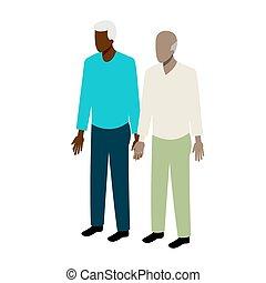 Old gay isometric couple