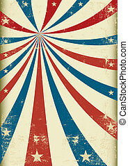 A patriotic circus background for a poster