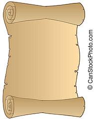 Old paper scroll - vector illustration.