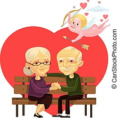 Old people couple characters