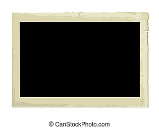 Old Photo Frame (vector)