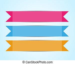 Old ribbon banner set