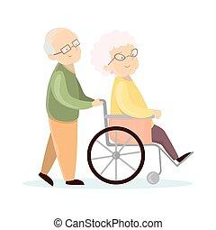 Old senior couple.