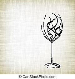 Old style vintage wine card