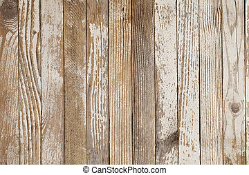 grunge wood background with old white paint