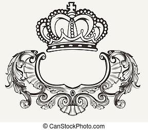 One Color Crown Crest Composition