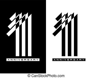 One year celebration anniversary for design logo concept, vector