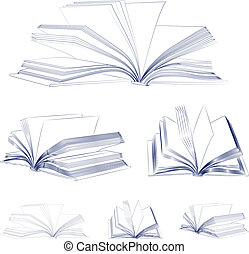 Open book sketch set