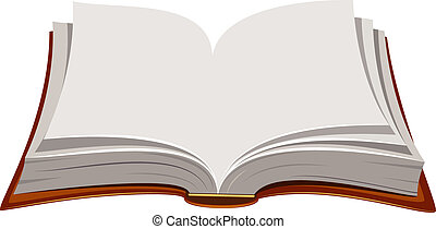 Vector image of open book over white. EPS 8, AI, JPEG