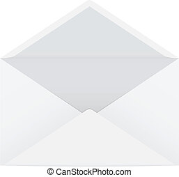 Vector illustration of a white isolated open envelope