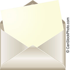 Open envelope with card