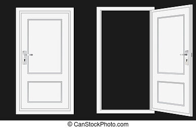 opened and closed door, for conceptual usage.