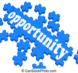 Opportunity Puzzle Shows Career Chances And Progress Possibilities.