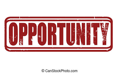 opportunity grunge stamp whit on vector illustration