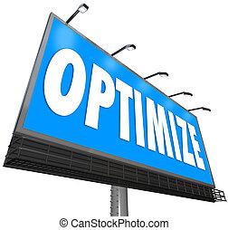 Optimize Word Billboard Perfect Revising Optimization Search Cap