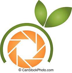 Orange photography logo
