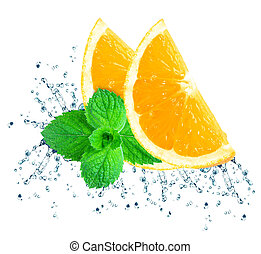 orange water splash