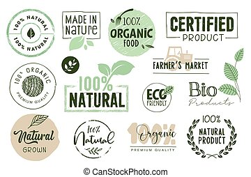 Organic food stickers