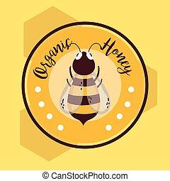 Organic honey round label