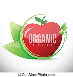 organic product apple illustration design