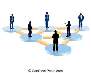 People in the organization chart, vector illustration.