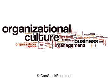 Organizational culture word cloud concept