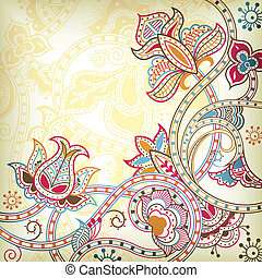 Illustration of abstract floral in asia style.
