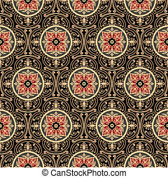 Oriental seamless pattern, antique background, full scalable vector graphic, change the colors as you like
