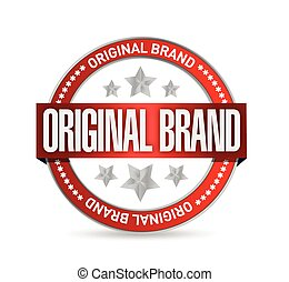 original brand seal illustration design
