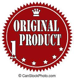 Original Product-label