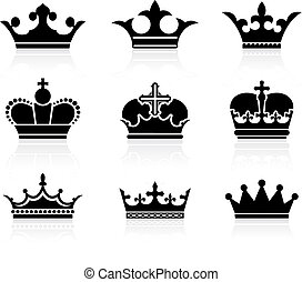 Original vector illustration: crown design collection